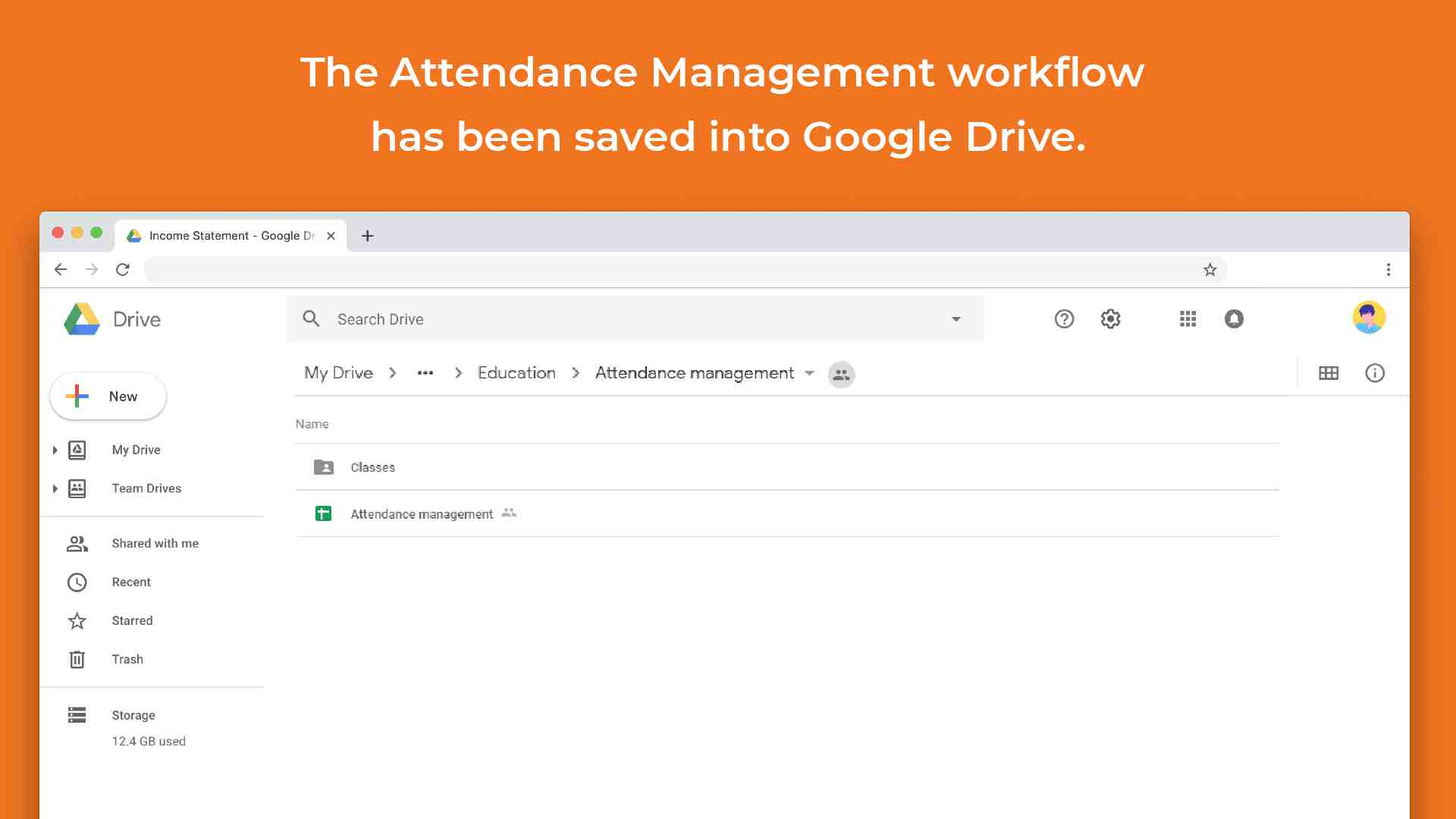 attendance management template in google sheets