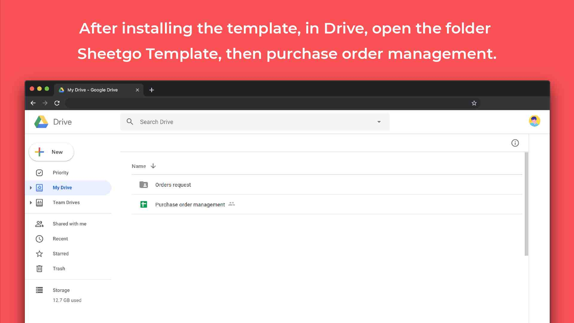 Purchase order management template google sheets