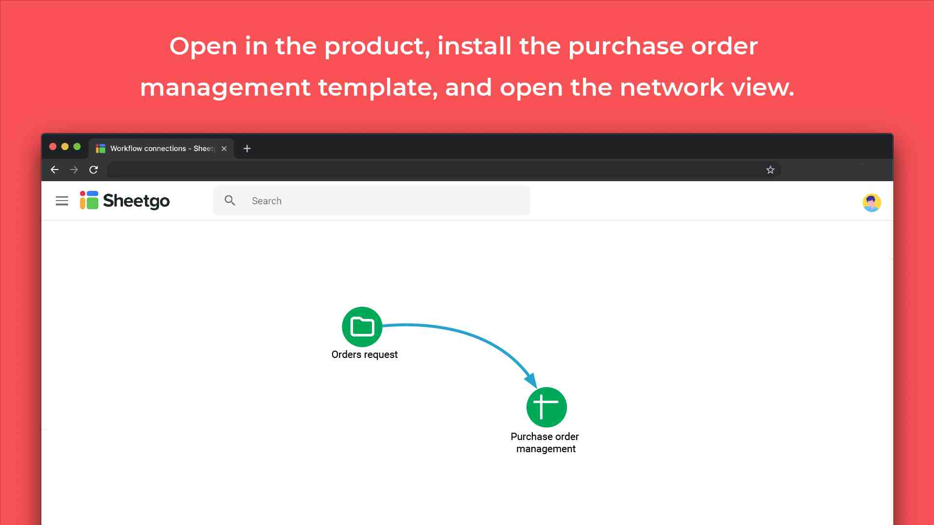 Purchase order management template connections
