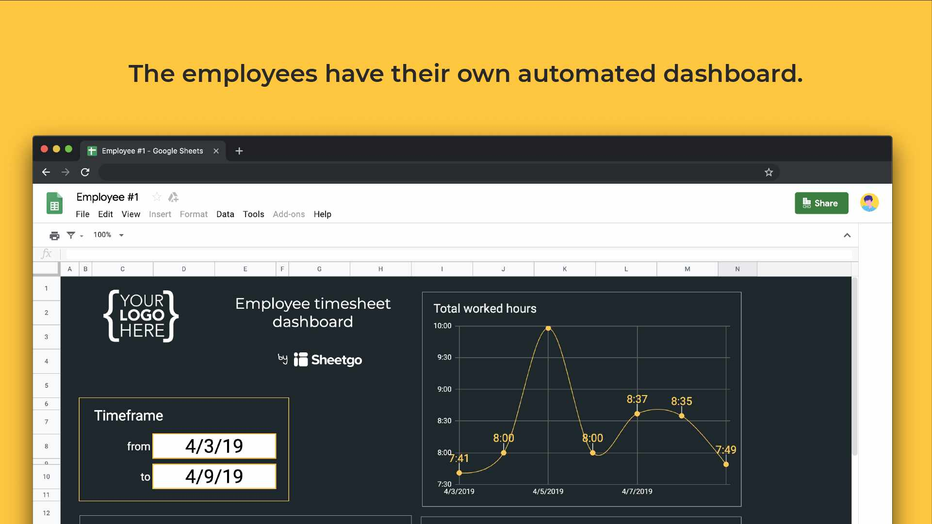 Employee timesheet template automated